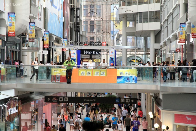 Two levels of the Toronto Eaton Centre on July 12, 2013