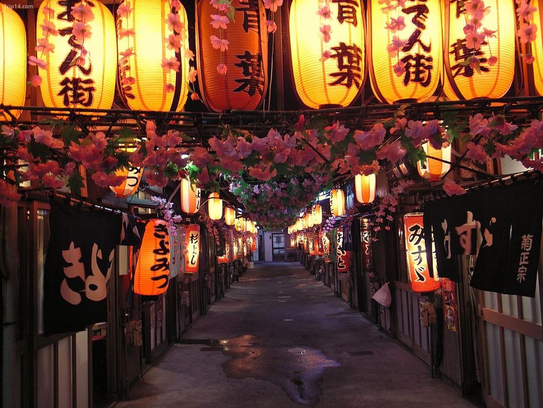 Phố Aoba Oden, một con hẻm có nhiều nhà hàng oden, ở Shizuoka