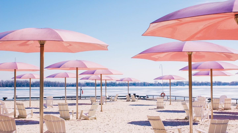 Sugar Beach xứng đáng là một trong những bãi cát đẹp nhất của thành phố Toronto