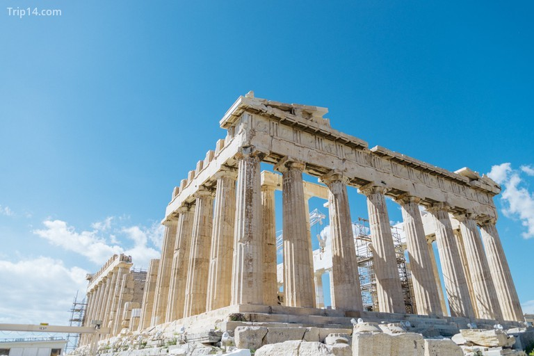 The Parthenon is majestic and imposing