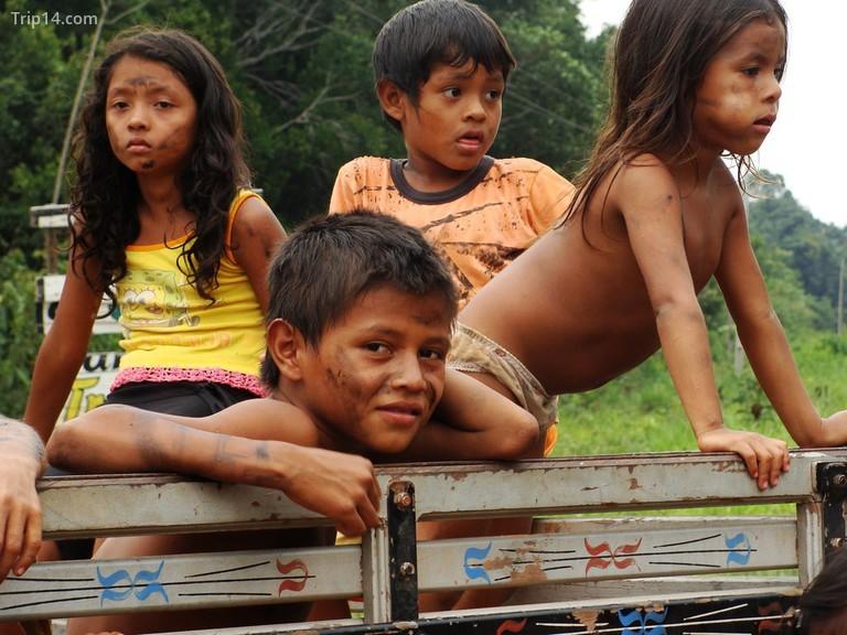 Trẻ em bộ lạc rừng nhiệt đới © Ben Sutherland / Flickr