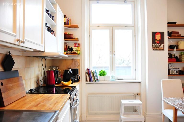 Bếp trong một căn chung cư ở Thụy Điển