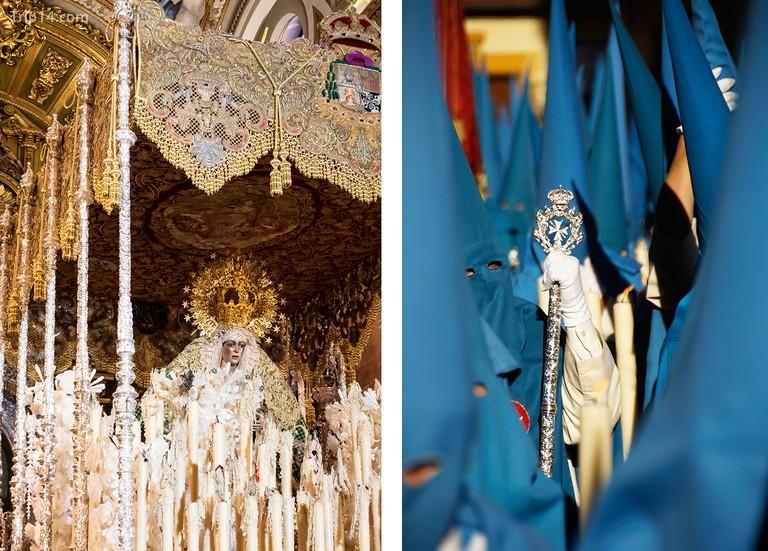 Trong Semana Santa hay Tuần Thánh, rước kiệu Phục sinh là một sự kiện lớn ở Seville, Andalusia