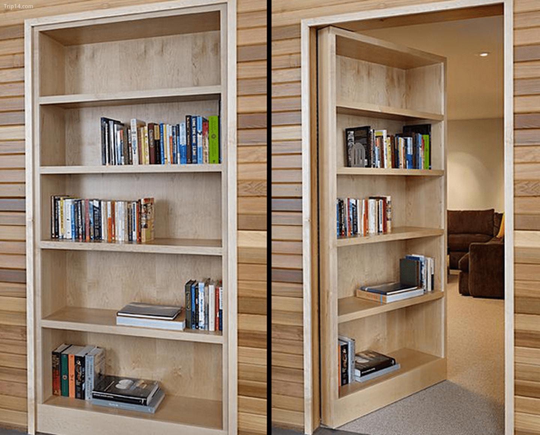 Cửa kiêm tủ sách của DeForest Architects