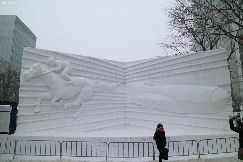 Điêu khắc tại lễ hội tuyết Sapporo