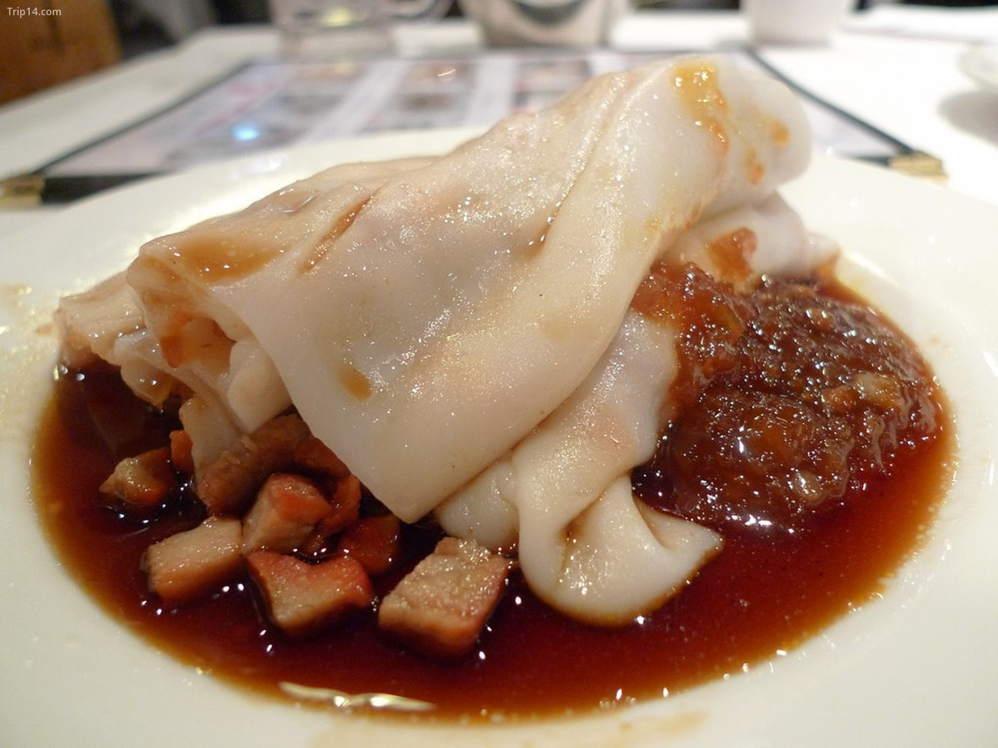 Cha Siu Pork in Rice Noodle Roll    