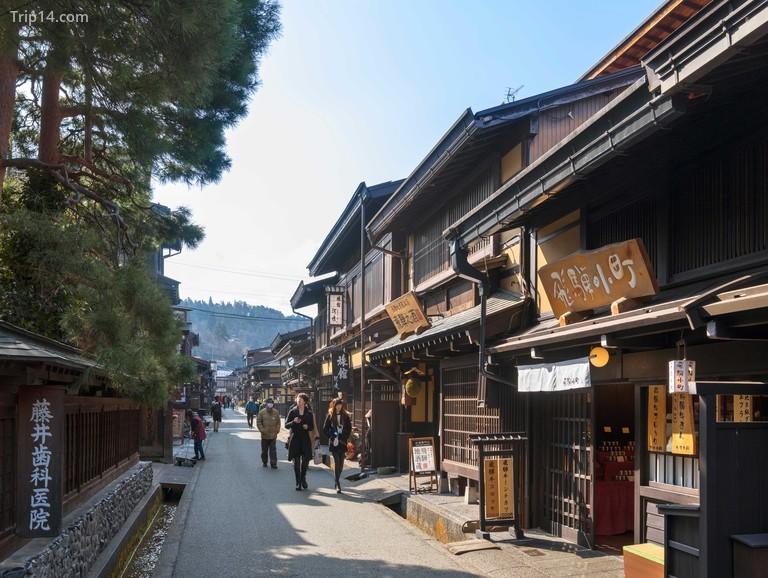 một con phố ở Hida-Takayama