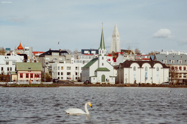 một góc thành phố Reykjavik