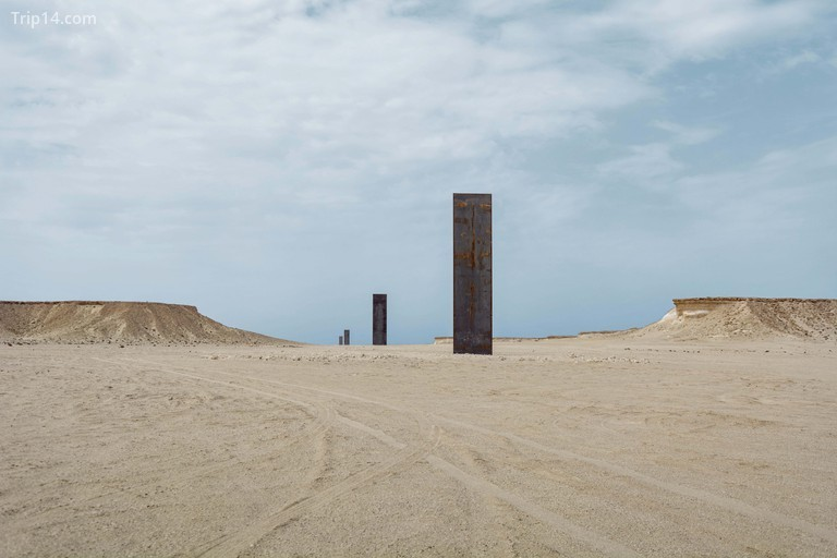 Richard Serra's East-West West-East sculpture can be found in the Brouq nature reserve