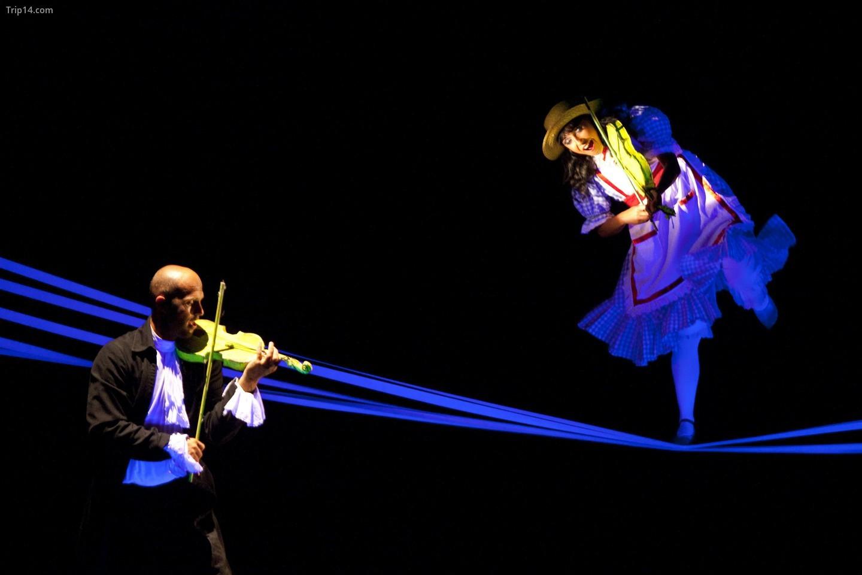 Các nghệ sĩ biểu diễn 'Các khía cạnh của Alicia' tại Nhà hát Ánh sáng Đen Quốc gia của Praha   |