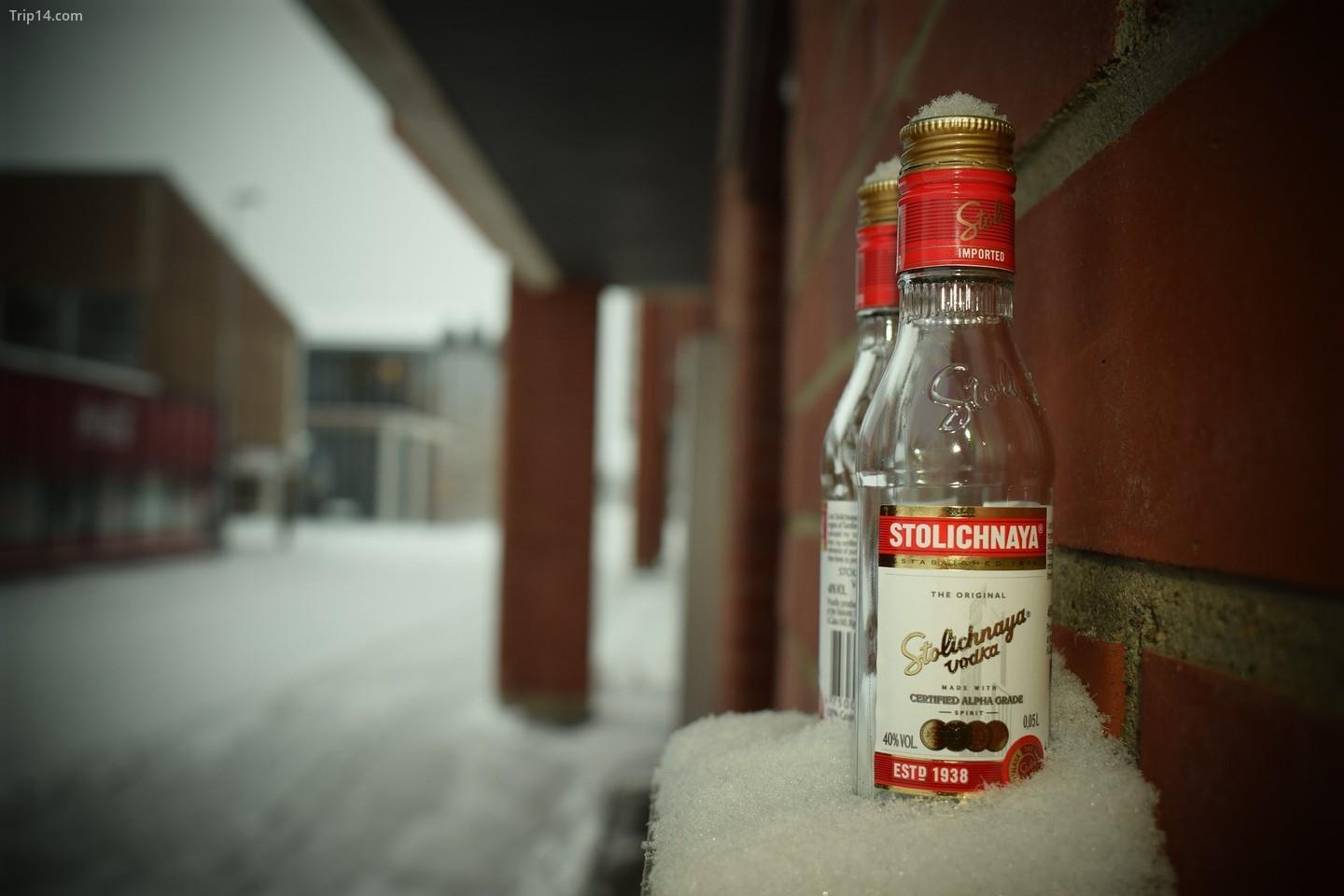 Một chai vodka Stolichnaya   |