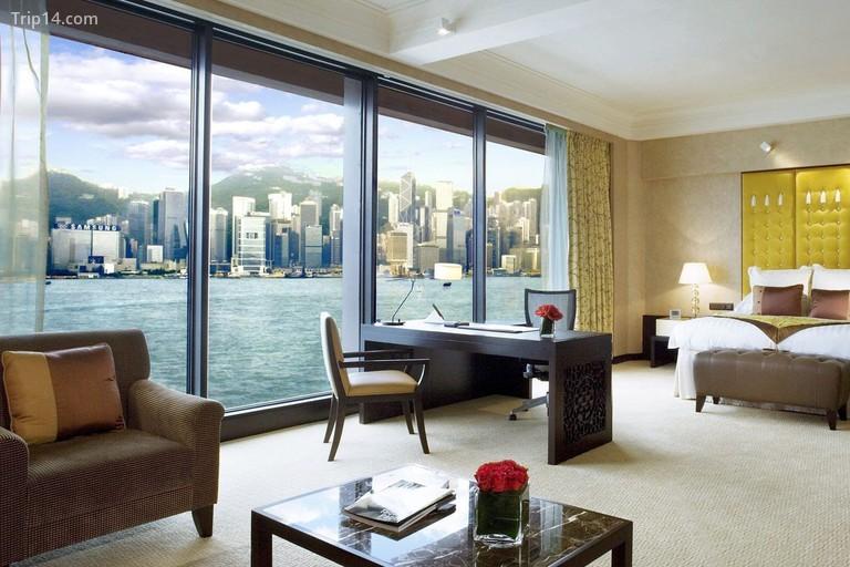 Các phòng và phòng tại khách sạn InterContinental Hồng Kông có tầm nhìn toàn cảnh Cảng Victoria và Đảo Hồng Kông - Trip14.com