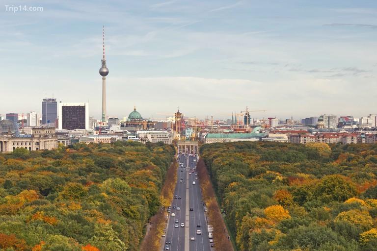 Khung cảnh thành phố Berlin nhìn từ Siegersäule