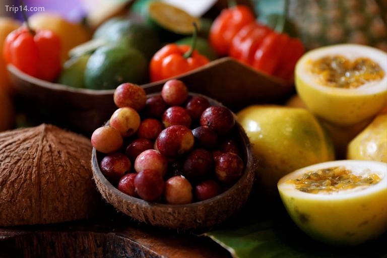 Camu camu là một loại quả mọng màu vàng đỏ với những lợi ích sức khỏe tuyệt vời
