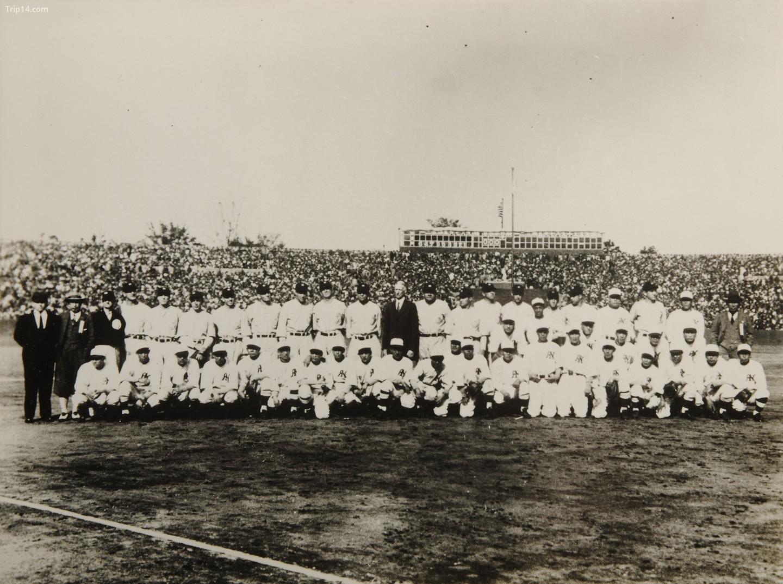 Các cầu thủ Mỹ đến thăm Nhật Bản năm 1934   |