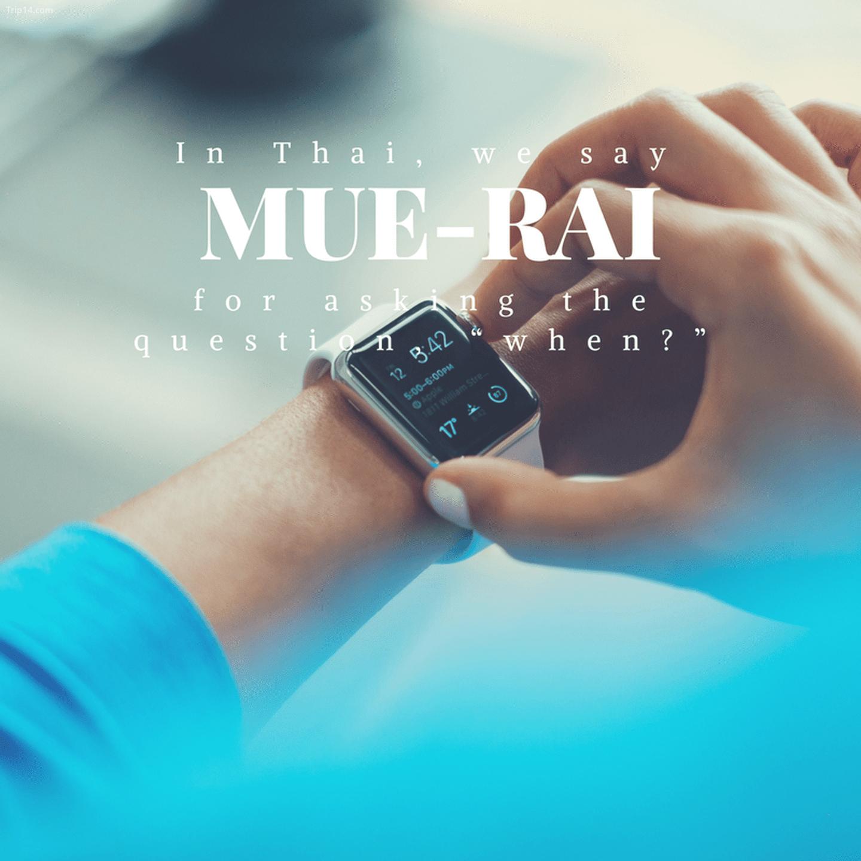 เมื่อ ไหร่: Mue-rai