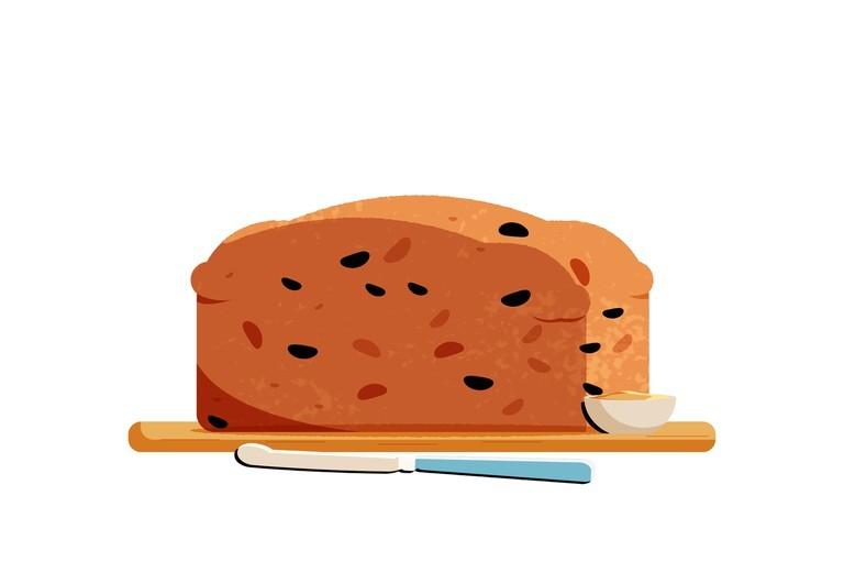 Bara brith giống tiếng Wales như sò huyết & bánh mì laver © Trip14