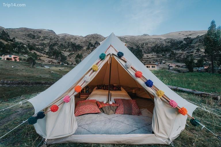 Cắm trại ở thung lũng Urubamba