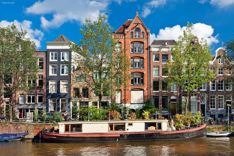 một góc thành phố Amsterdam