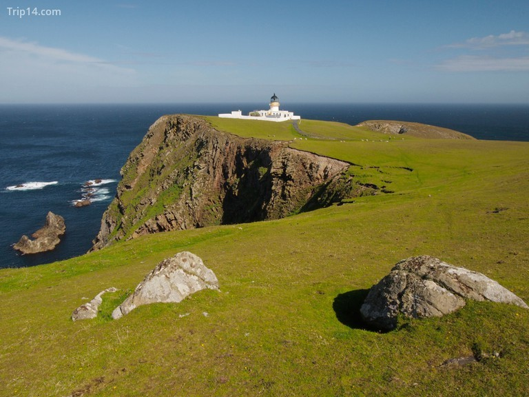 Ngọn hải đăng phía Bắc, Fair Isle - hòn đảo từng được người Viking định cư, những người gọi nó là Fridarey: hòn đảo của hòa bình © Andy Sutton / Alamy Kho ảnh