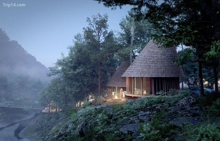 Đội ngũ thiết kế đã xây dựng những cabin hoàn hảo bằng gỗ, kết hợp nét thẩm mỹ của Nhật Bản với phong cách Bắc Âu hygge | © Thiên nhiên thứ ba / Môi trường có cấu trúc / Sáng tạo Henrik