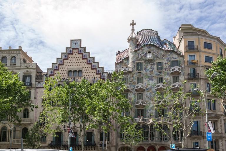Casa Batlló trên Passeig de Gracià