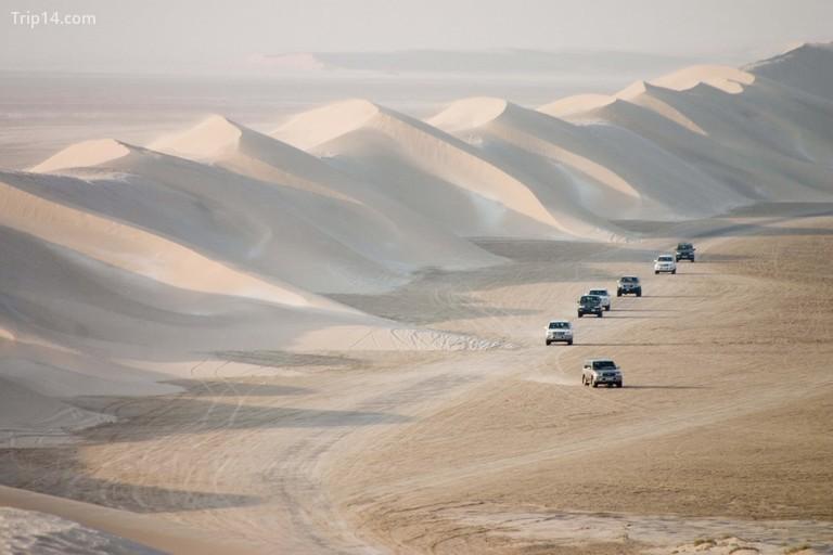 Sand dunes near the inland sea qatar