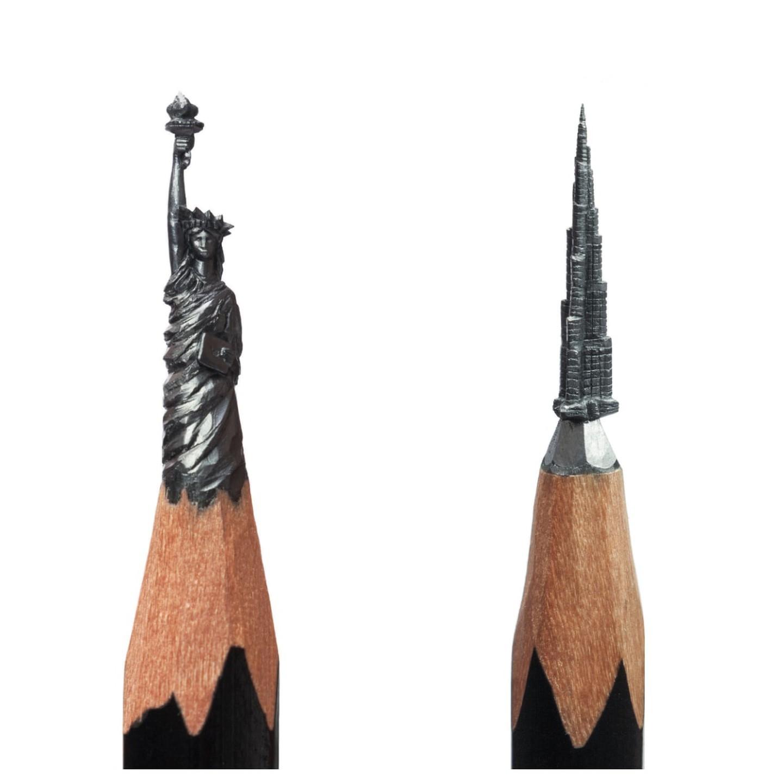 """Tác phẩm của nghệ sĩ Salavat Fidai trong """"Think Small: The Tiniest Art in the World"""" của Eva Katz"""