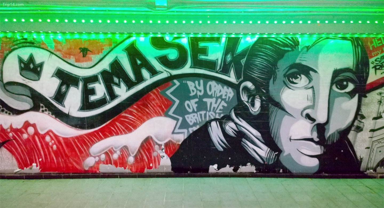 Temasek Mural của RSCLS tại Elgin Bridge   |