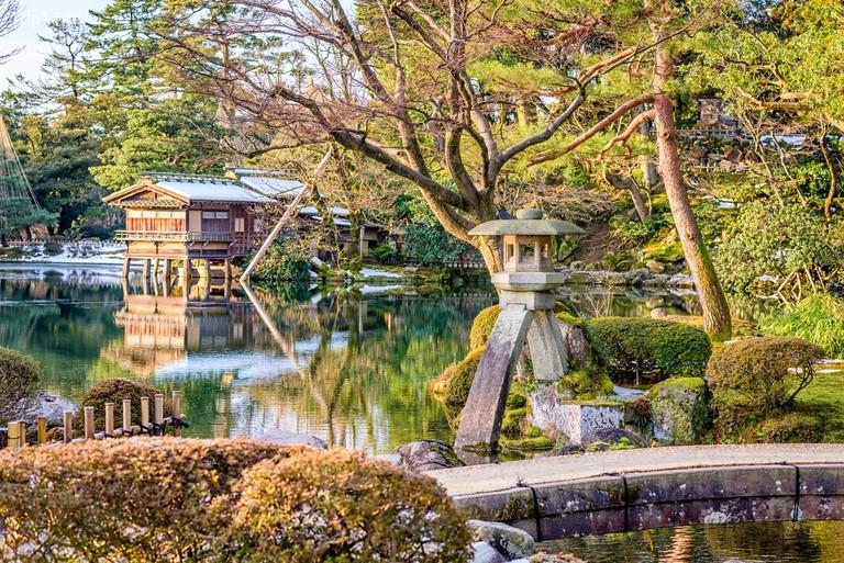 Vườn Kenrokuen ở Kanazawa