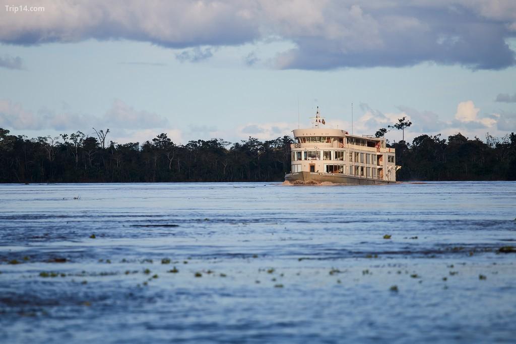 Tàu du lịch Delfin III đi thuyền từ Iquitos đến Khu bảo tồn quốc gia Pacaya Samiria dọc theo sông Amazon