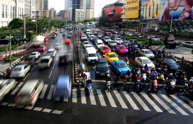 Tắc đường thường xuyên xảy ra ở Bangkok