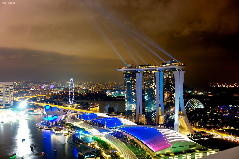 Màu sắc điện của Marina Bay Sands   |