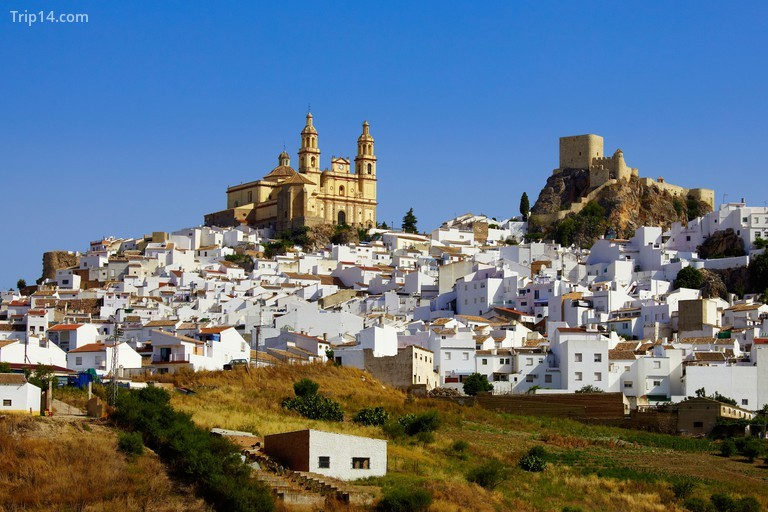 Lâu đài nhìn từ phía xa, Andalusia, Tây Ban Nha